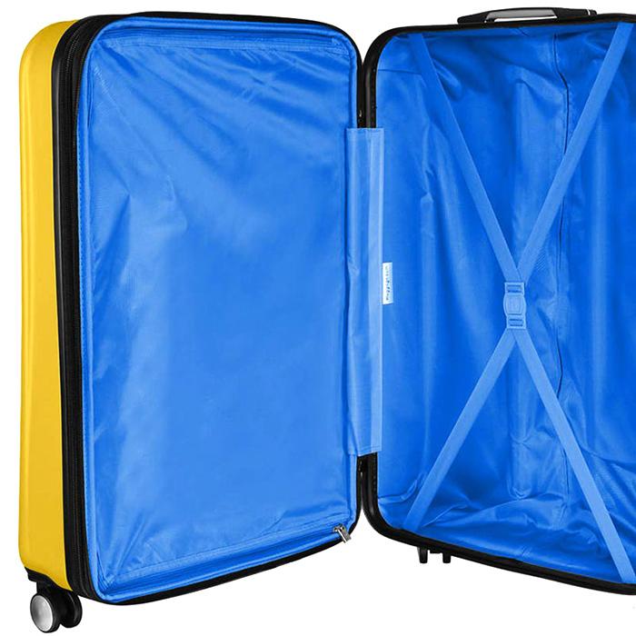Желтый чемодан IT Luggage Mesmerize Old Gold 81х55х34см