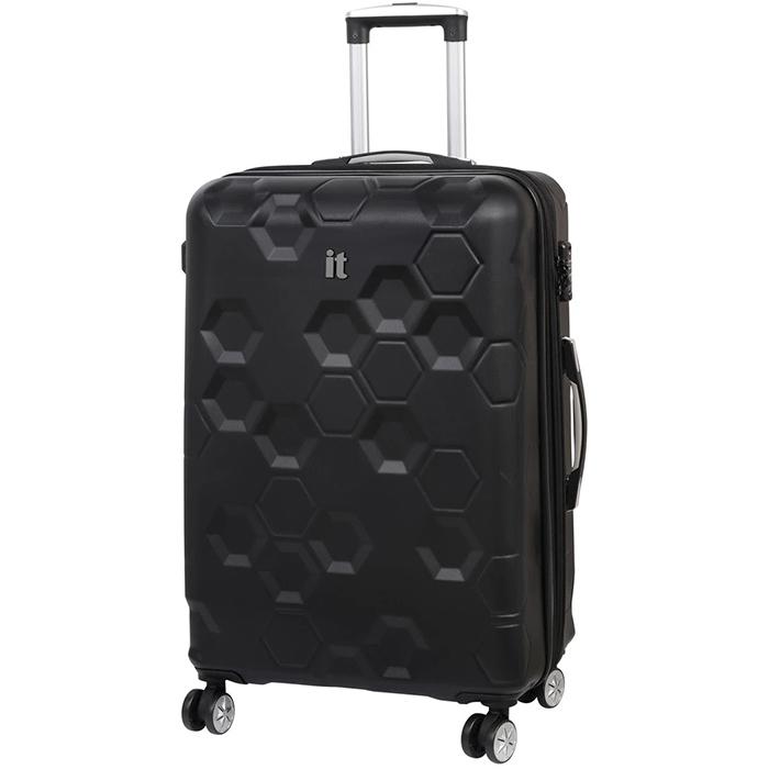 Черный чемодан IT Luggage Hexa Black 71х49х29см