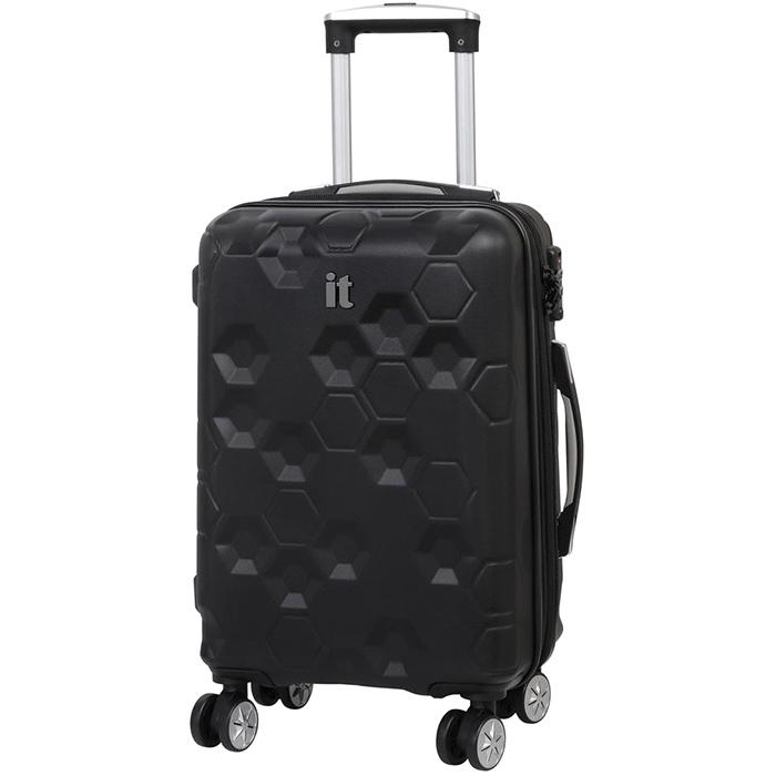 Черный чемодан IT Luggage Hexa Black 55х35х23см