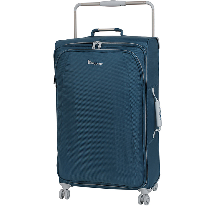 Синий чемодан IT Luggage New York Blue Ashes 80х47х26см