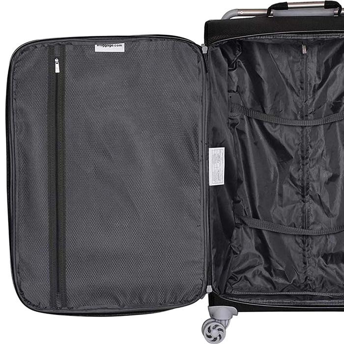 Черный чемодан IT Luggage New York Raven 80х47х26см