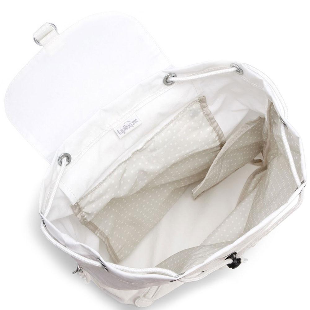 Женский белый рюкзак Kipling New Classics Fundamental Nc