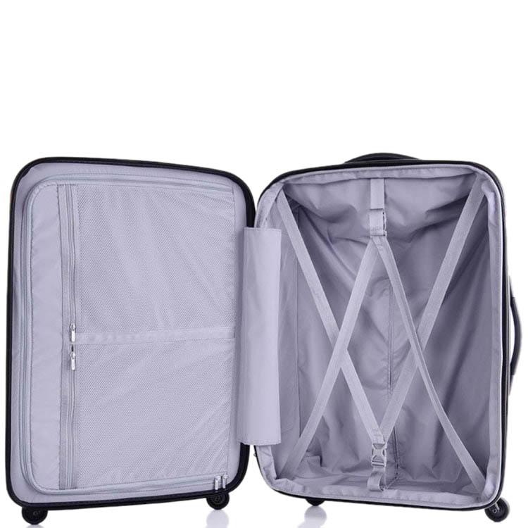 Синий вместительный чемодан 57x81x33-36см Lojel Lucid с функцией регулировки размера