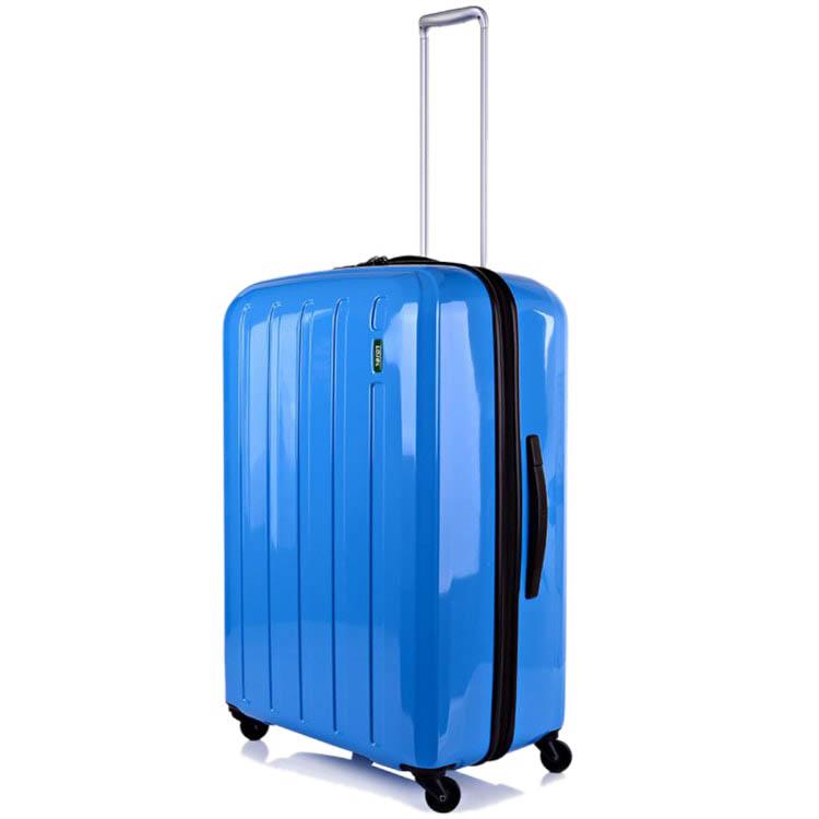 Большой синий чемодан 49х71х29(32)см Lojel Lucid с возможностью регулировать размер
