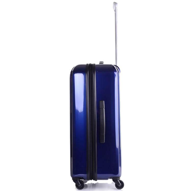 Большой синий чемодан 49х71х29(32)см Lojel Lucid на колесиках с функцией регулировки размера