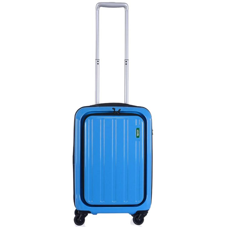 Синий небольшой чемодан 35,5х55х23см Lojel Lucid с внешним органайзером на молнии