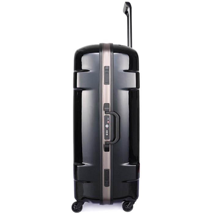 Дорожный черный чемодан 47,5x68,5x28,5см Lojel Carapace среднего размера на защелках