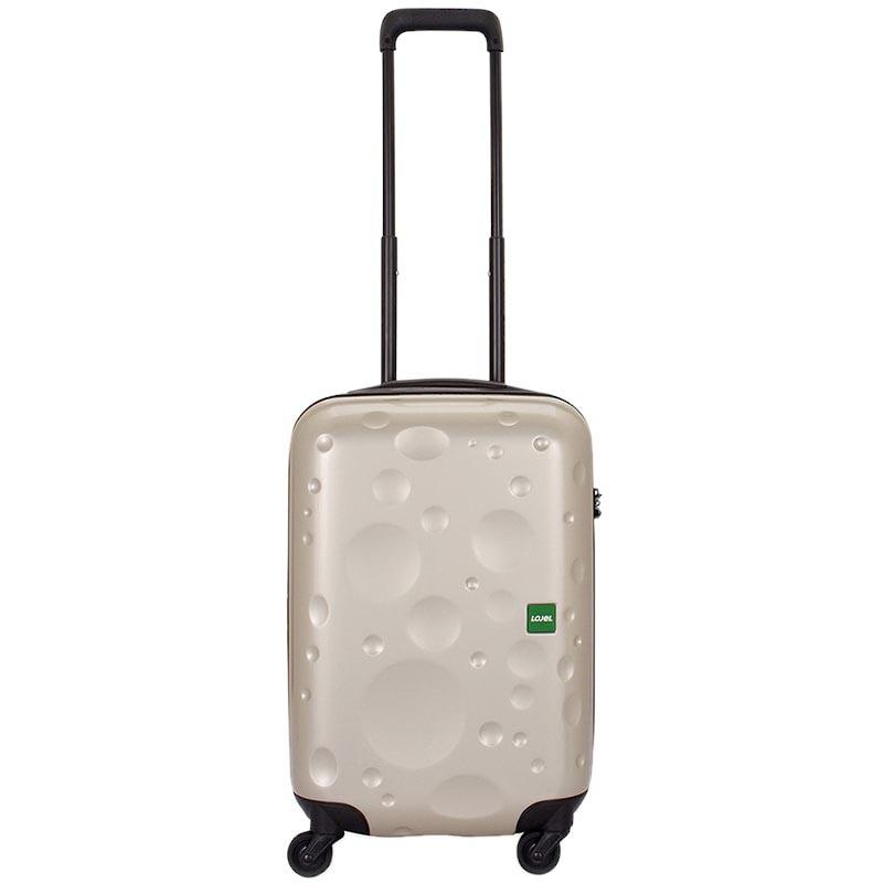 Маленький дорожный чемодан 36,4х55,6х23,0см Lojel Luna золотистого цвета с рельефным тиснением