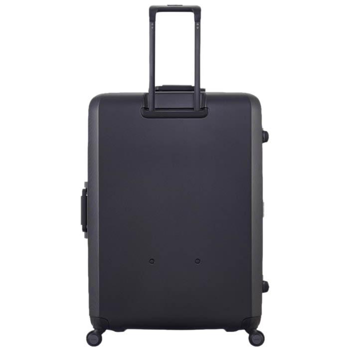 Большой черный чемодан 54х77х31,5см Lojel Rando с текстурой против царапин и замком