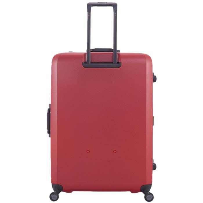 Большой красный чемодан 54х77х31,5см Lojel Rando с покрытием против царапин на колесиках