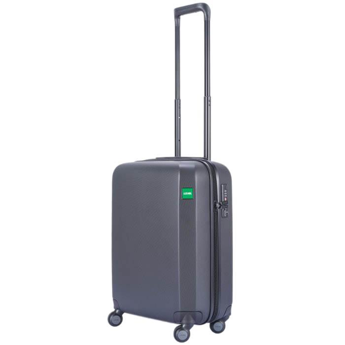 Маленький черный чемодан 40х54,2х23см Lojel Rando на колесиках с длинной ручкой
