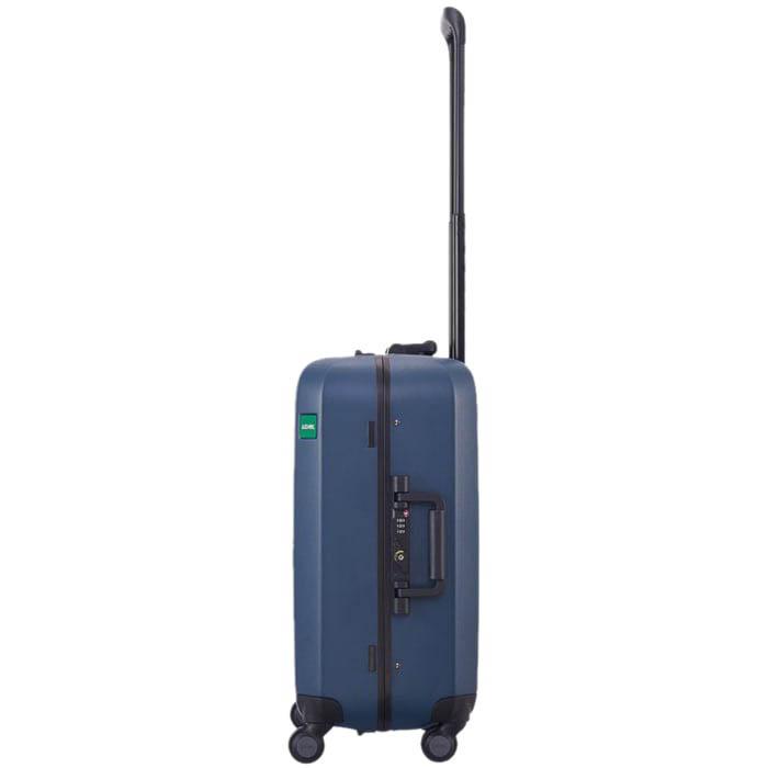 Маленький синий чемодан 40х54,2х23см Lojel Rando размера ручной клади с покрытием против царапин