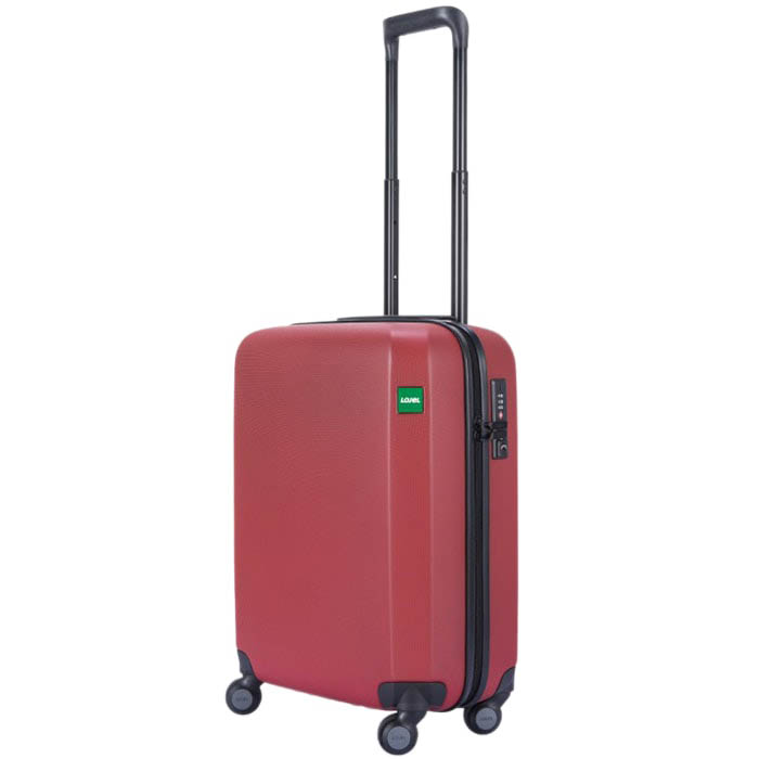 Красный чемодан 40х54,2х23см Lojel Rando маленького размера с текстурой против царапин