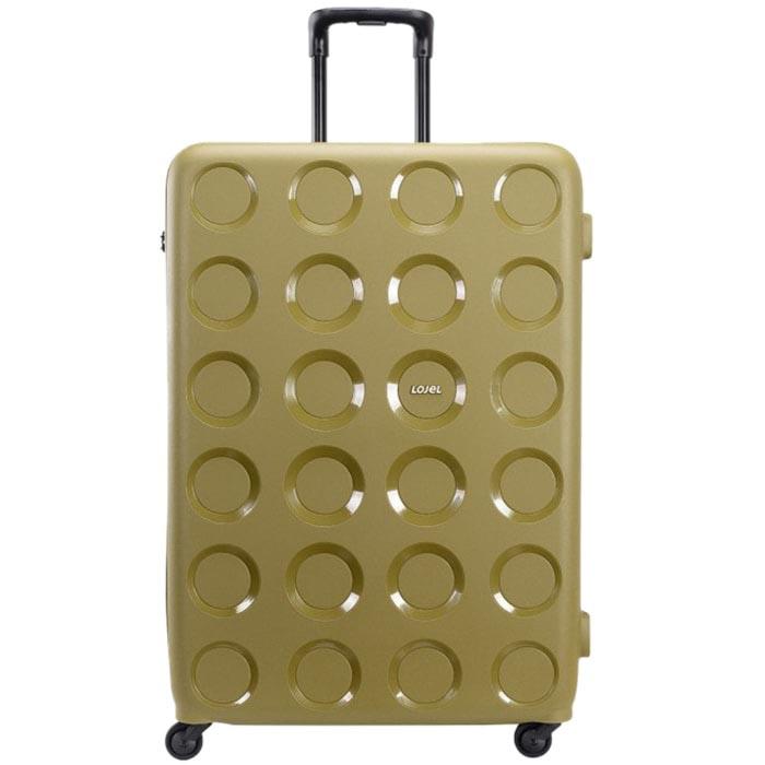 Зеленый дорожный чемодан 55,8x80x34,5см Lojel Vita очень большого размера с тиснением