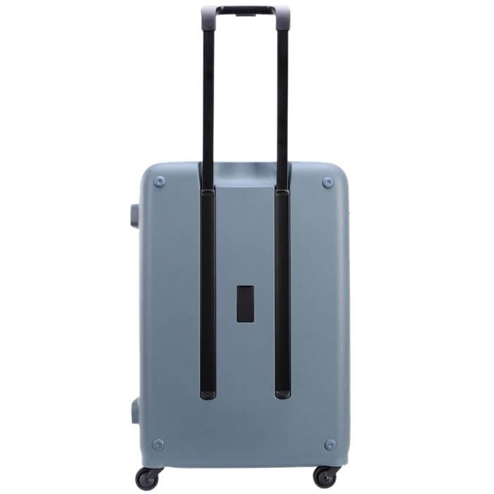 Большой тисненный чемодан 49х70,4х29,3см Lojel Vita синего цвета с телескопической ручкой