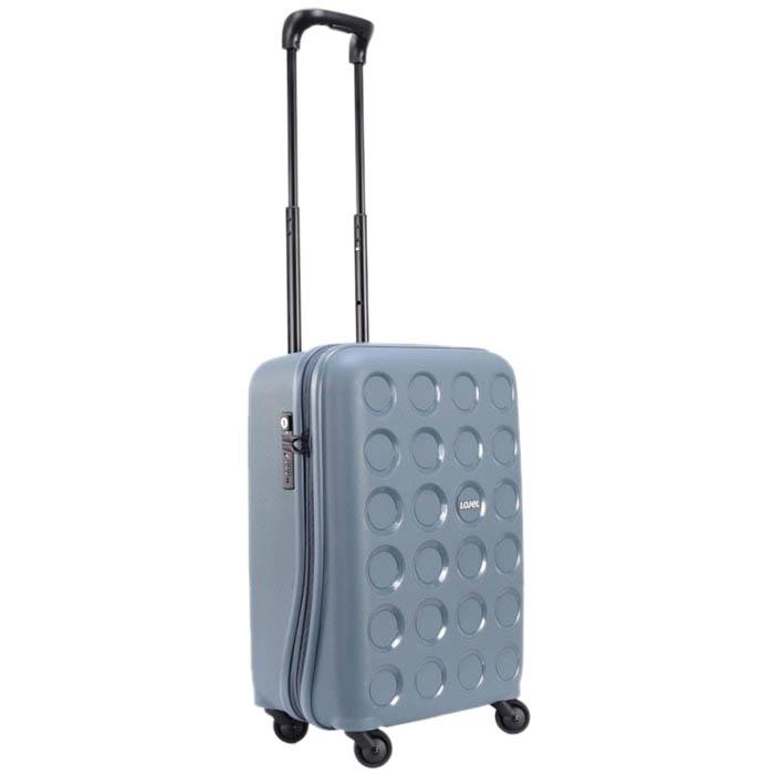 Серый маленький чемодан 36х54,8х24,7см Lojel Vita с выдвижной ручкой и тиснением