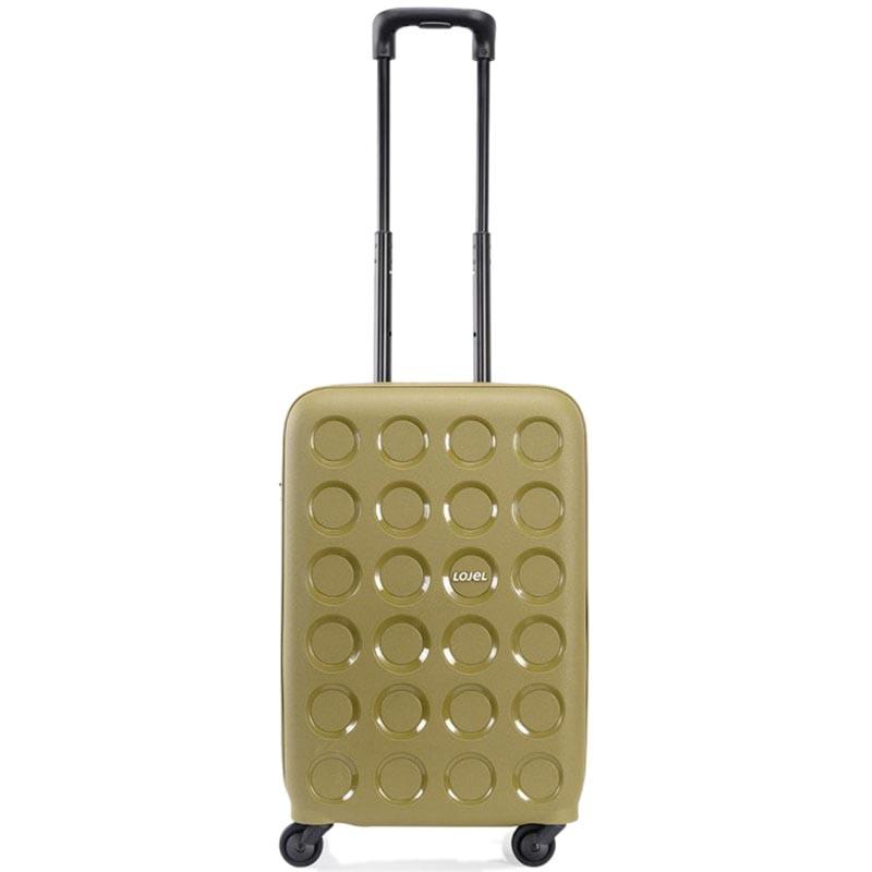Небольшой чемодан 36х54,8х24,7см Lojel Vita зеленого цвета с тиснением и выдвижной ручкой