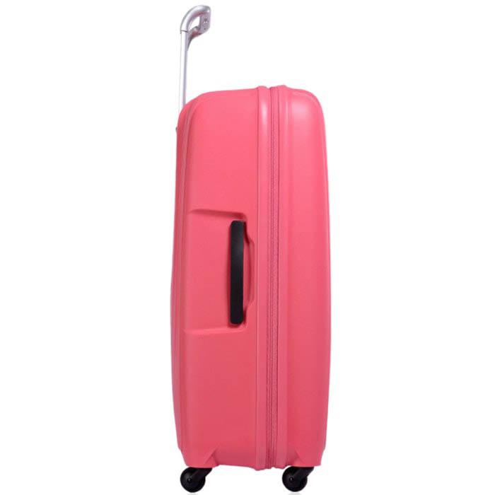 Вместительный розовый чемодан 56x82,5x32см Lojel Streamline большого размера на колесиках