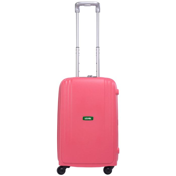 Маленький розовый чемодан 35х55х23,5см Lojel Streamline с выдвижной ручкой на колесиках