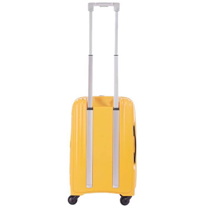Маленький желтый чемодан 35х55х23,5см Lojel Streamline на колесиках и с телескопической ручкой