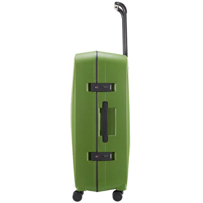 Большой дорожный чемодан 51,3х75,4х30,6см Lojel Octa 2 зеленого цвета с выдвижной ручкой и защелками