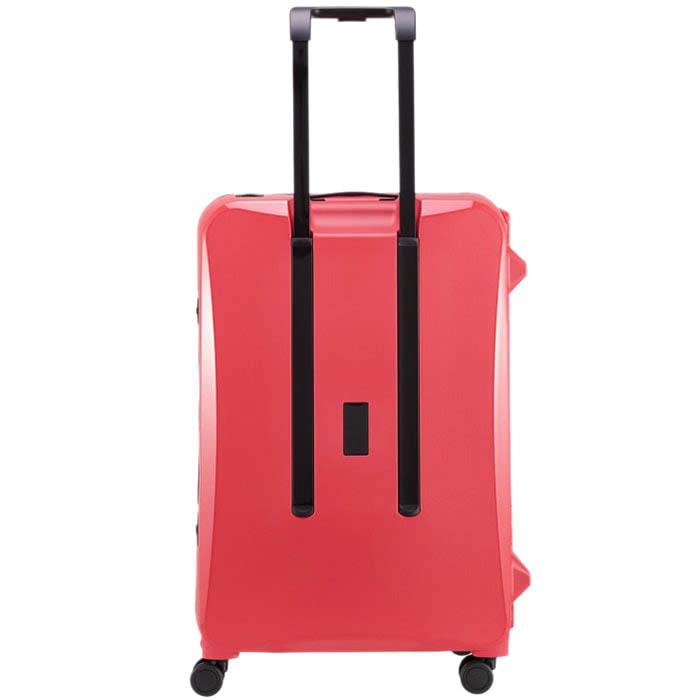 Большой розовый чемодан 51,3х75,4х30,6см Lojel Octa 2 на колесиках и с защелками на замках