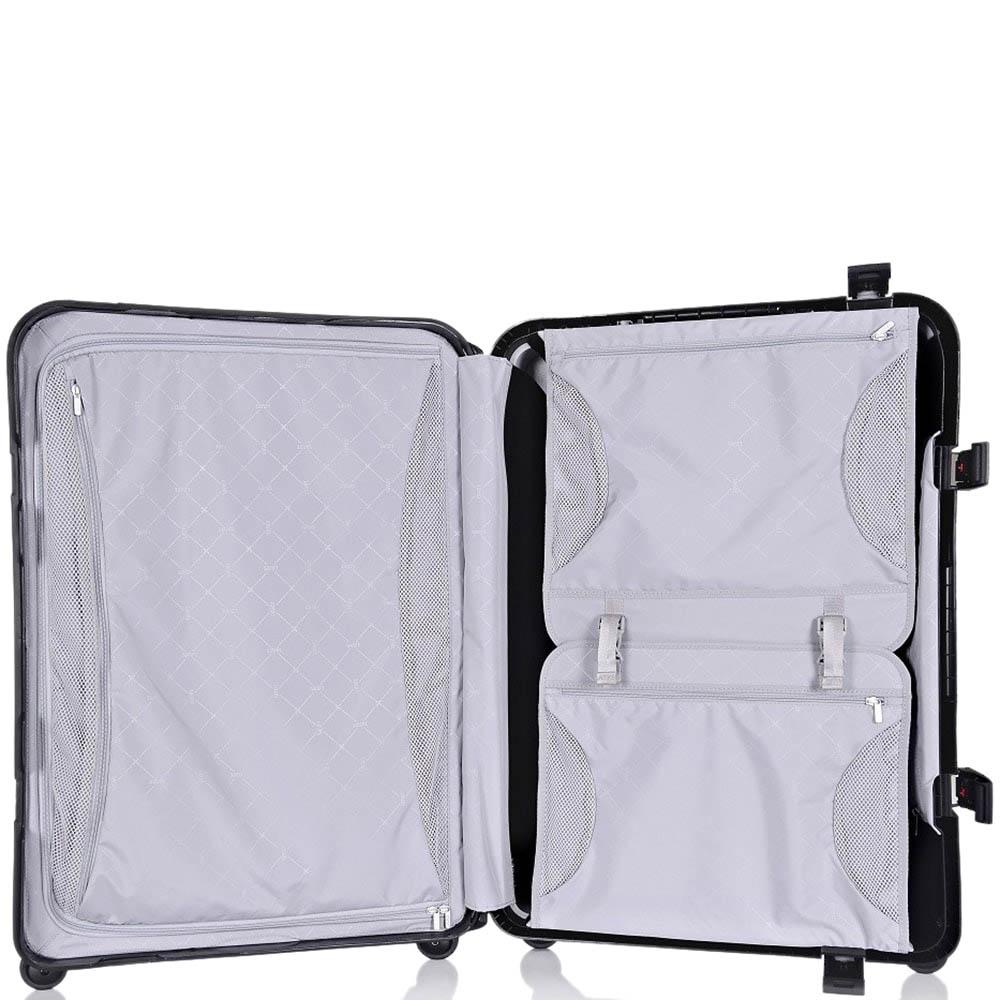 Черный дорожный чемодан 43,6x64,8x26,8см Lojel Octa средних размеров на колесиках