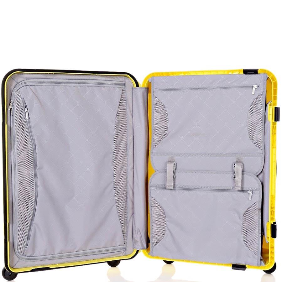 Желтый чемодан 43,6x64,8x26,8см Lojel Octa среднего размера с выдвижной телескопической ручкой