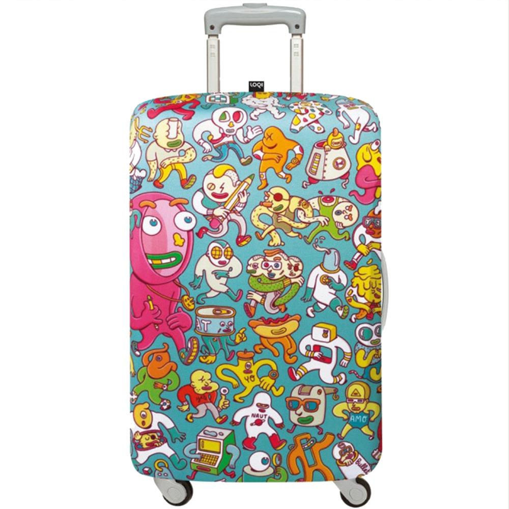 Яркий чехол для чемодана Loqi Brosmind Medium