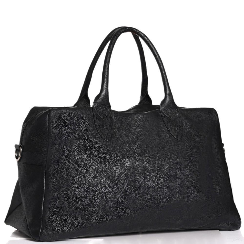 Дорожная сумка Di Gregorio черного цвета