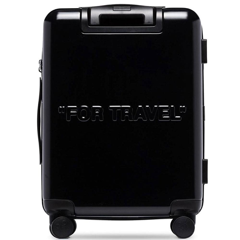 Черный чемодан Off-White с логотипом