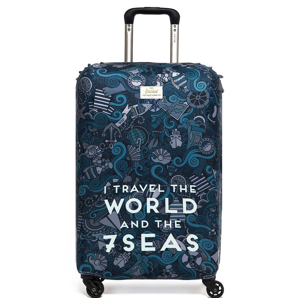 Чехол для чемодана Rocket I Travel the World