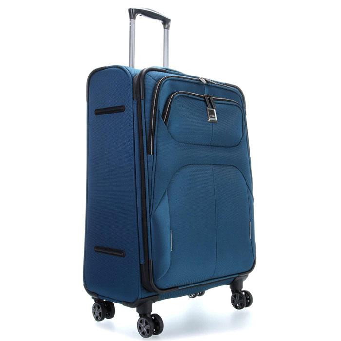 Средний чемодан 42x68x28-32см Titan Nonstop синий
