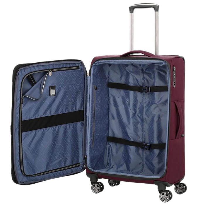 Средний чемодан 42x68x28-32см Titan Nonstop бордовый