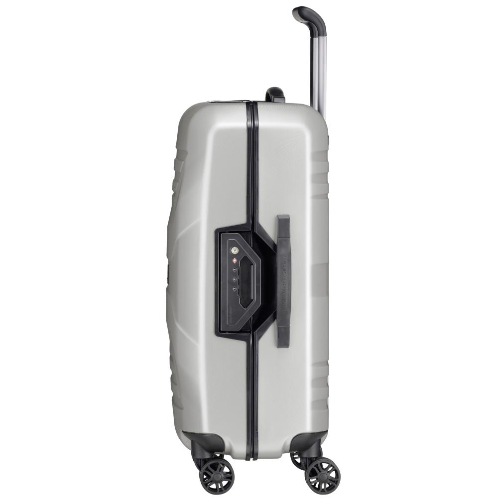 Серый чемодан на колесах 69x46x28см Titan Priorс корпусом из поликарбоната