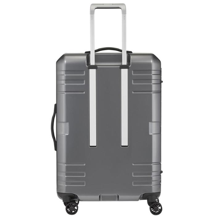 Серый чемодан 69x46x28см Titan Prior среднего размера с точечной системой закрытия