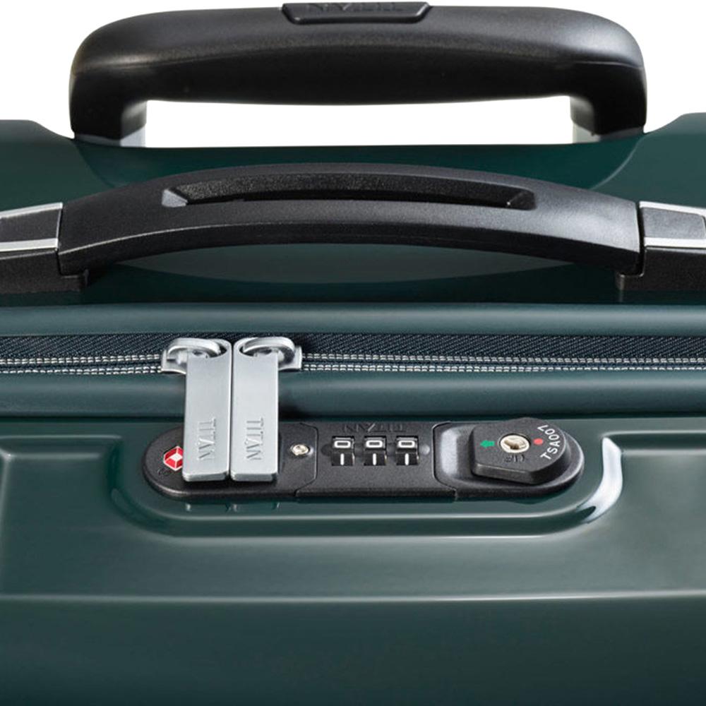 Большой чемодан 52x77x29см Titan X-Ray Racing Green с кодовым замком