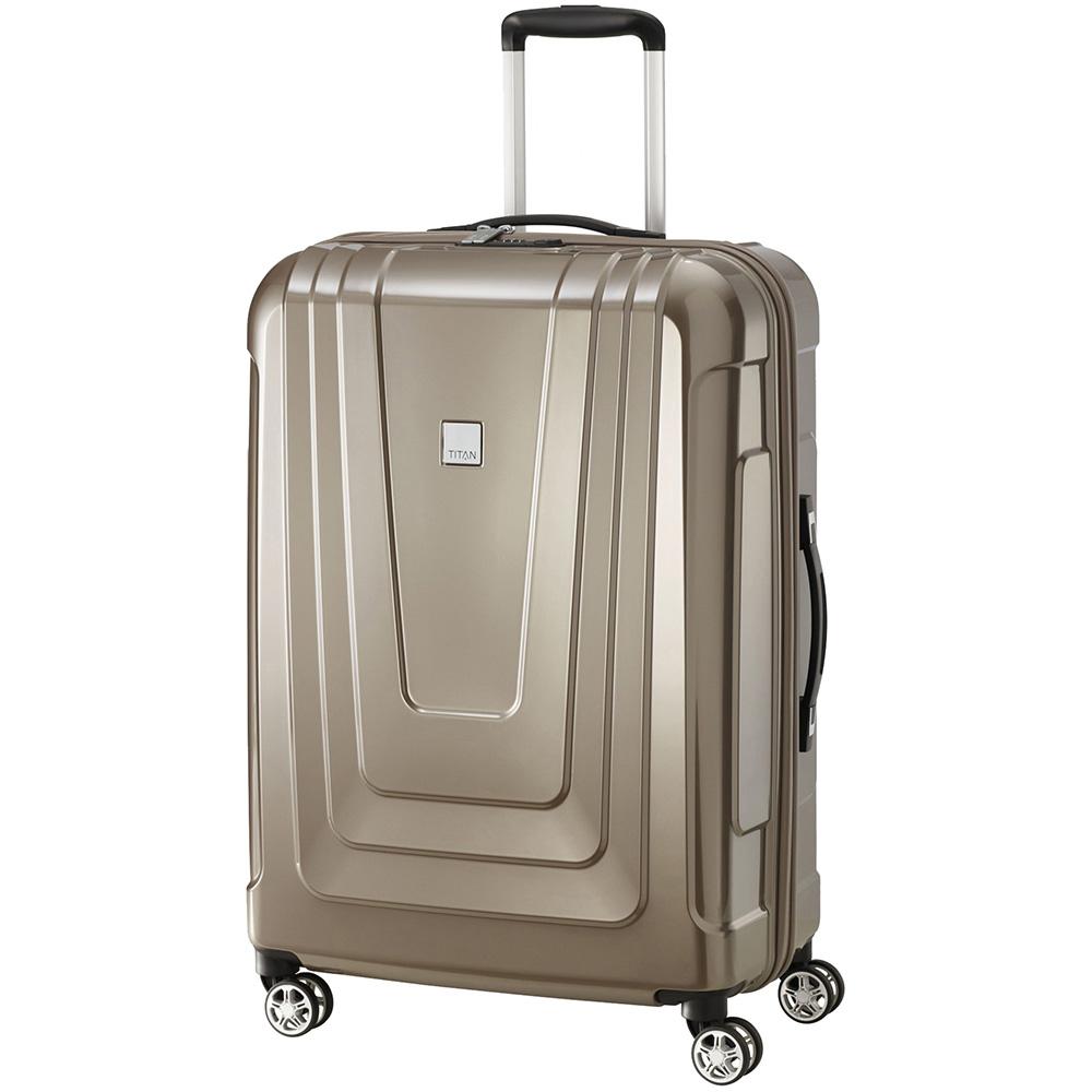 Средний чемодан 50x72x28см Titan X-Ray Cafe Au Lait на колесах