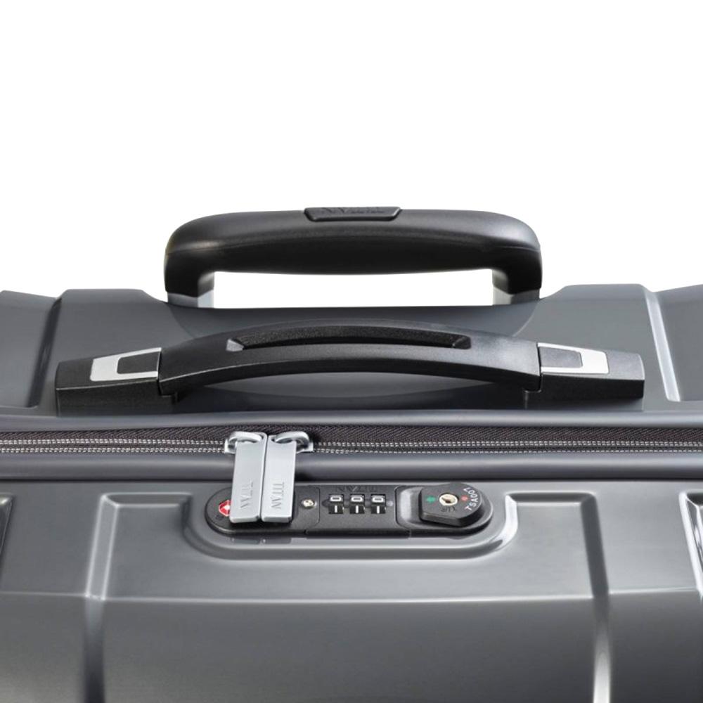 Дорожный чемодан 40x55x20см Titan X-Ray Dark Stone малого размера