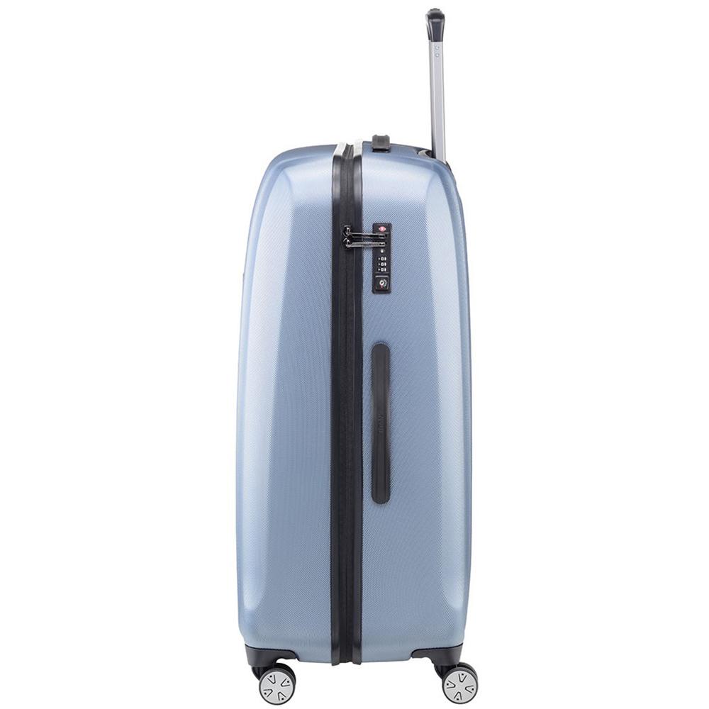 Синий чемодан 67x46x28см Titan Xenon с прорезиненной молнией