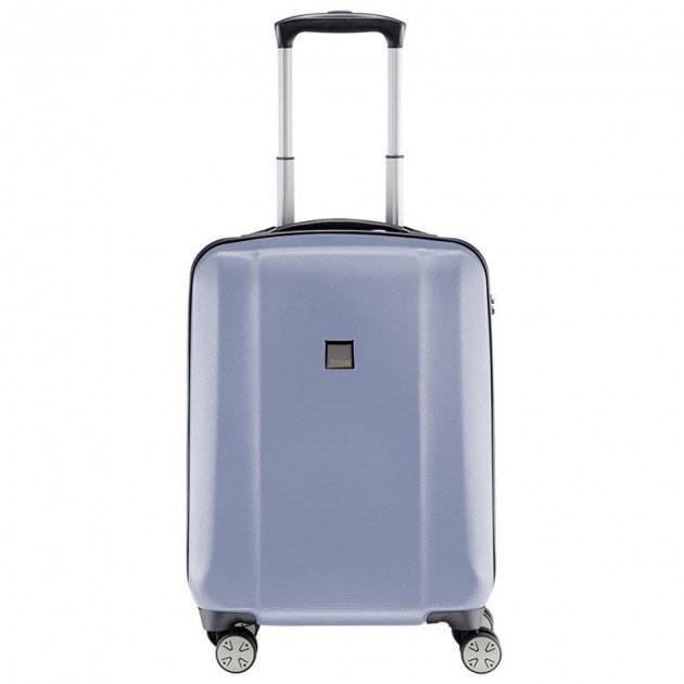 Маленький чемодан 55x38х20см Titan Xenon синего цвета с замком блокировки TSA