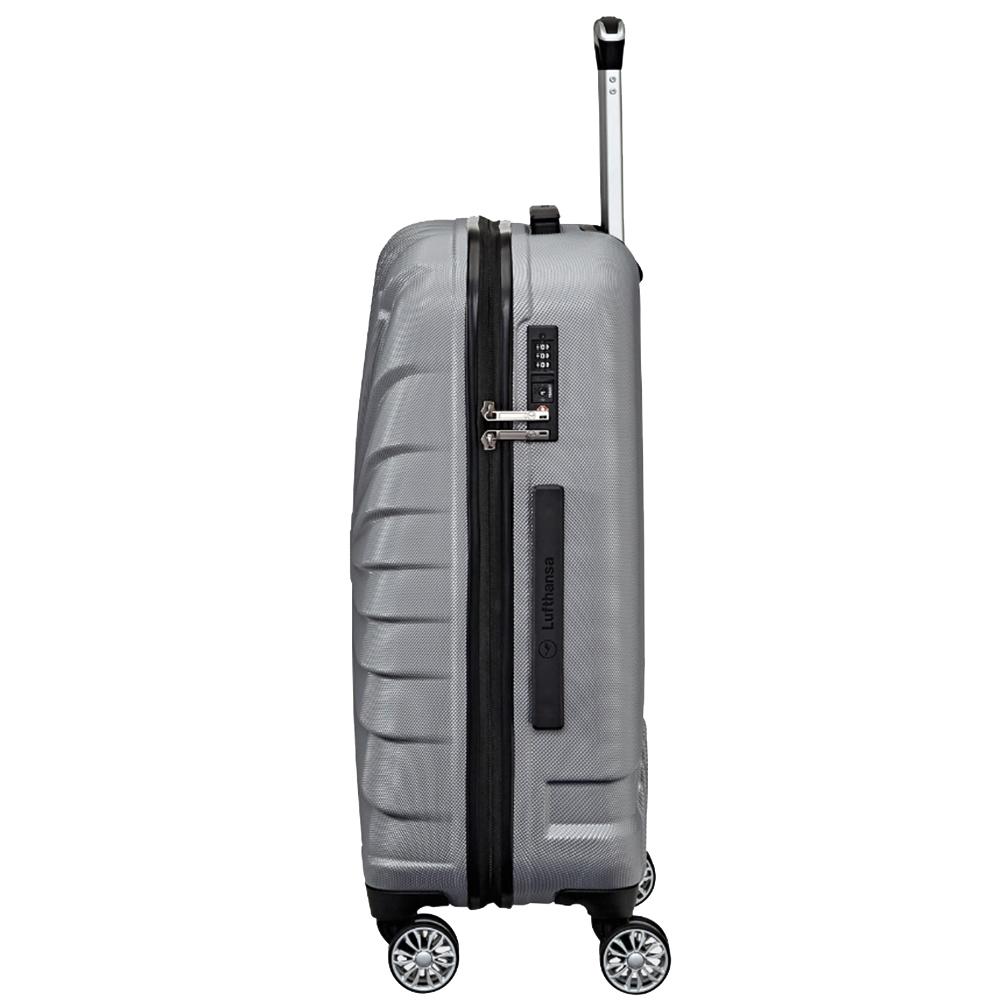 Серый чемодан 65x45x25см Titan Triport с дизайном корпуса в виде пропеллера