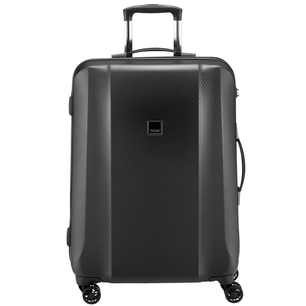 Темно-серый чемодан 67x46x28см Titan Xenon Deluxe в дизайне под акулью кожу