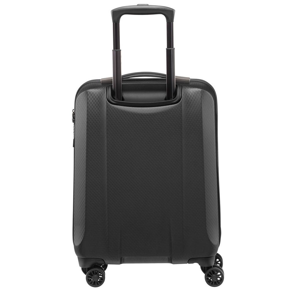 Серый чемодан 55х38х20см Titan Xenon Deluxe выполнен в сером цвете