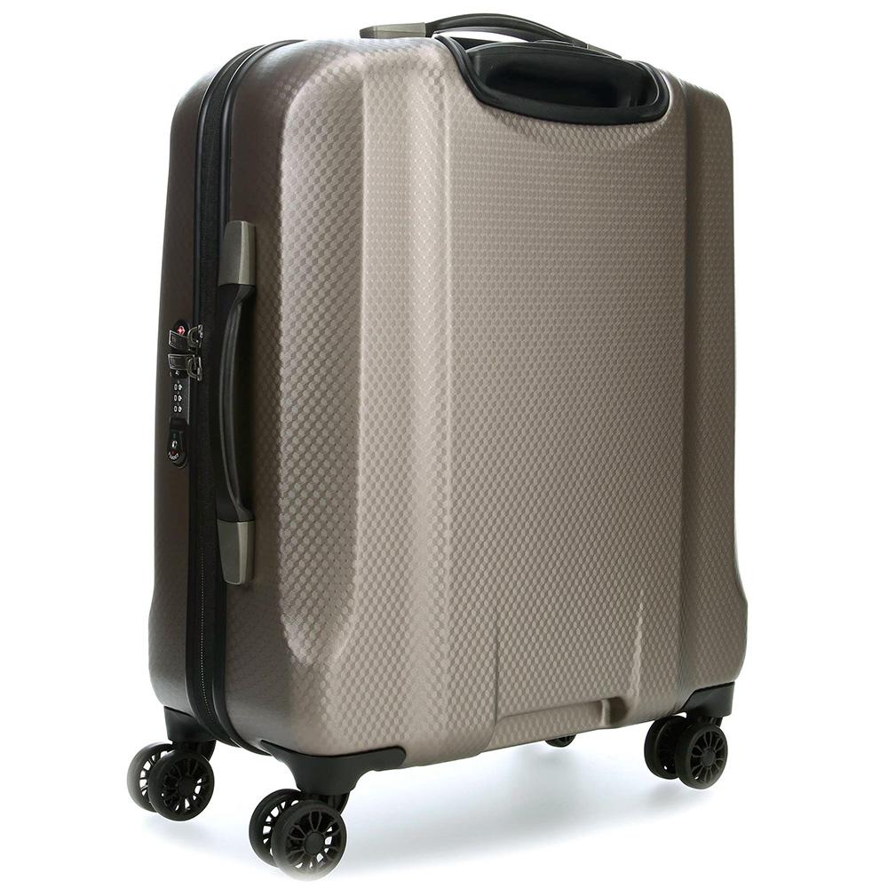 Маленький бежевый чемодан 56x45х25см Titan Xenon Deluxe на колесах