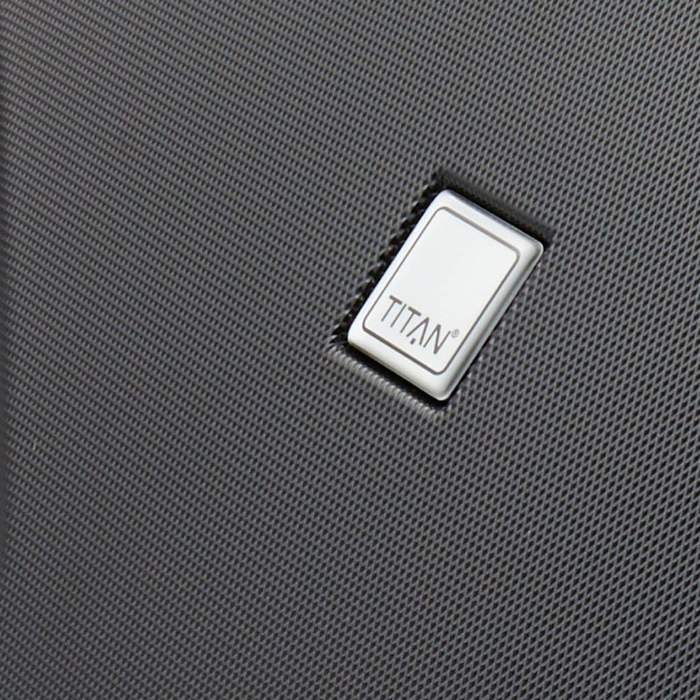 Чемодан черного цвета 76x52х28см Titan X2 декорирован под акулью кожу