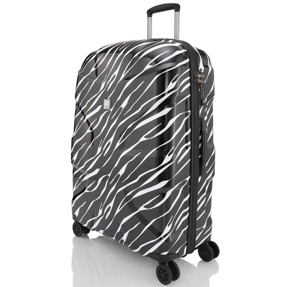 Большой чемодан 76x52х28см Titan X2 с ударостойким корпусом из поликарбоната