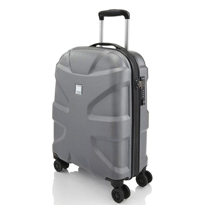 Маленький чемодан 39x55x20см Titan X2 серый