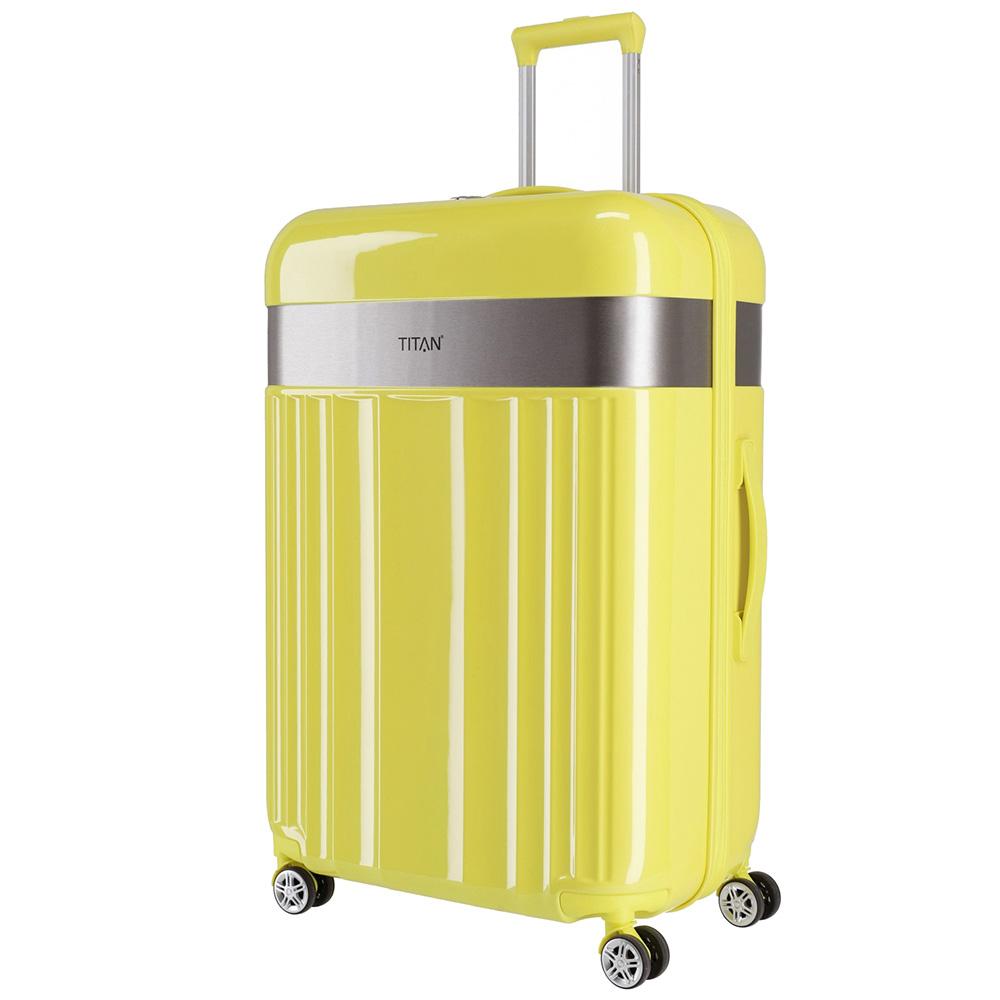 Чемодан желтого цвета 51x76x30см Titan Spotlight Flash Lemon Crush на колесах