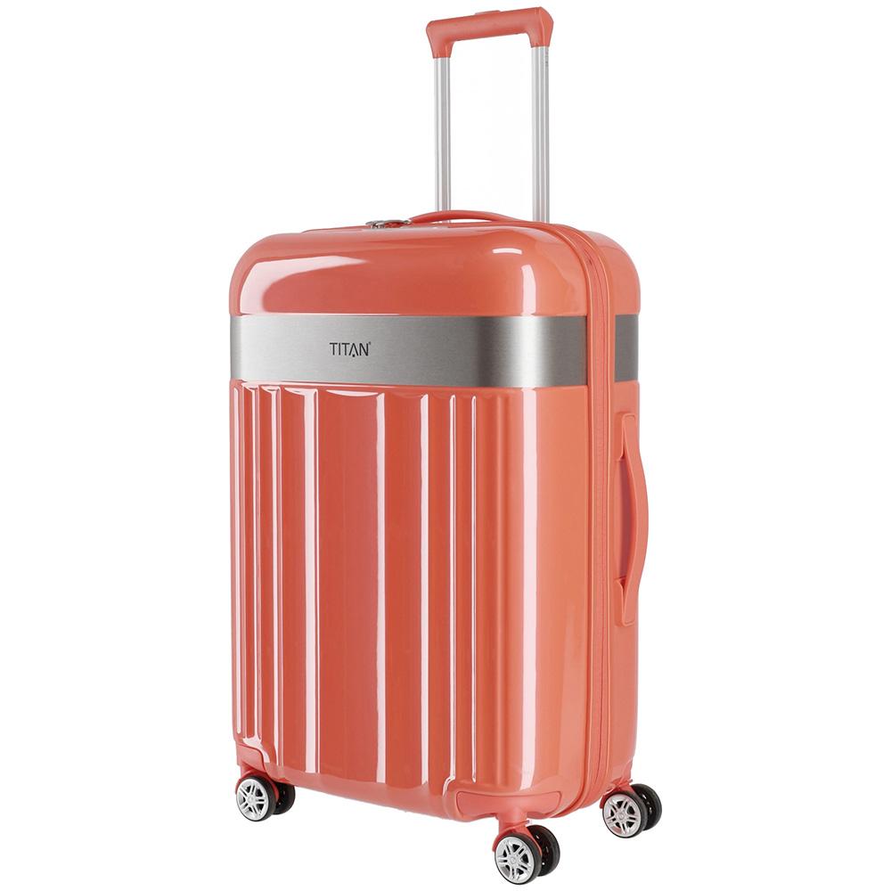 Пластиковый чемодан 45x67x27см Titan Spotlight Flash Cape Coral среднего размера